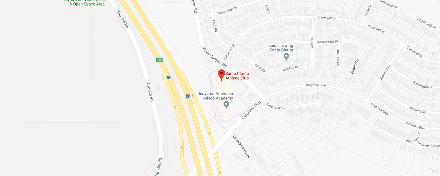 Santa Clarita Athletic Club Location Map