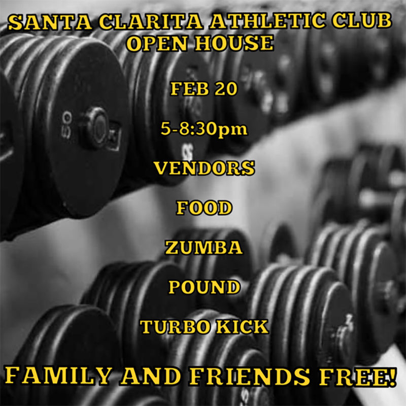 Santa Clarita Athletic Club February 20th, 2019 Open House Flyer