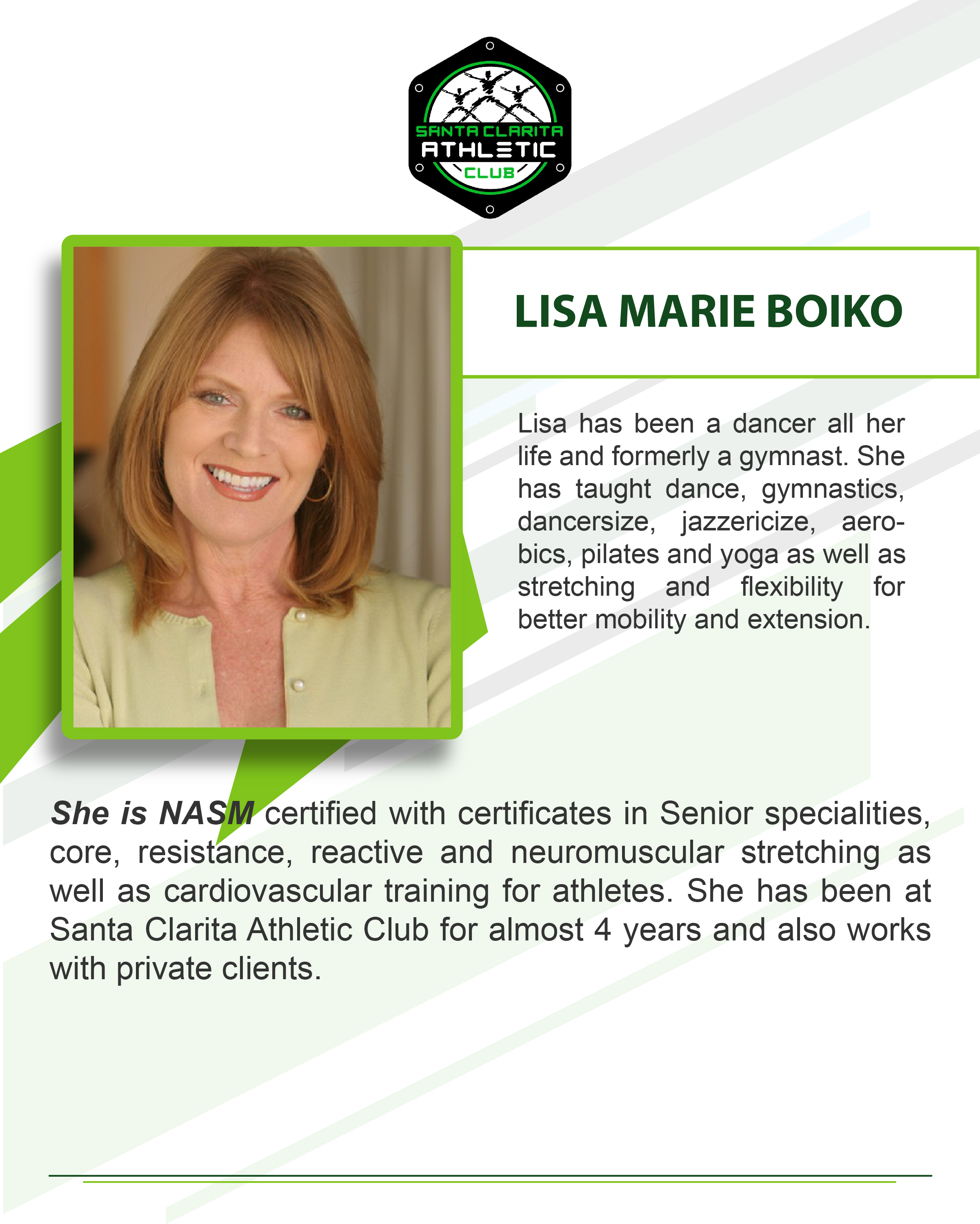 Lisa Marie Boiko - Certified Personal Trainer
