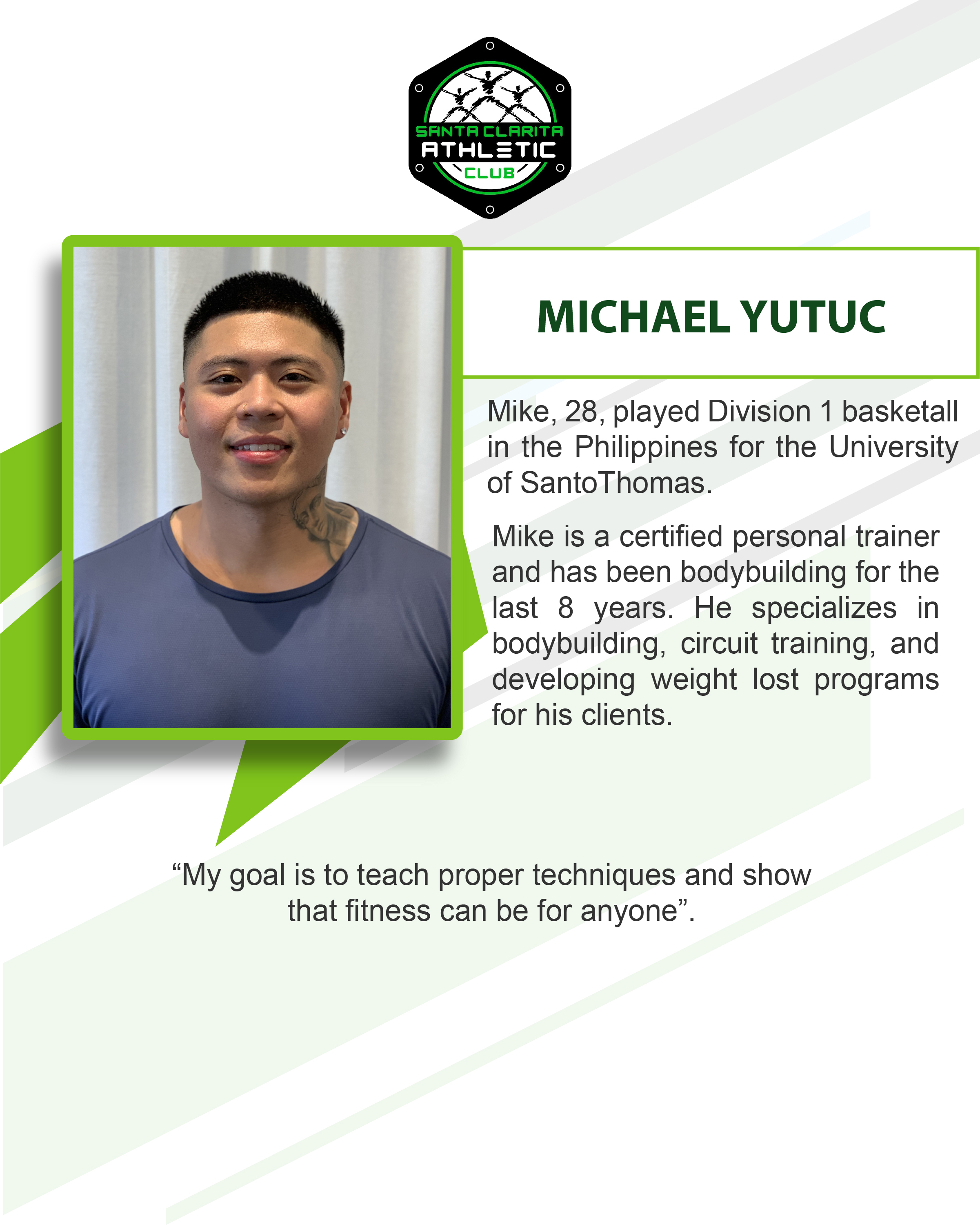 Michael Yutuc - Certified Personal Trainer