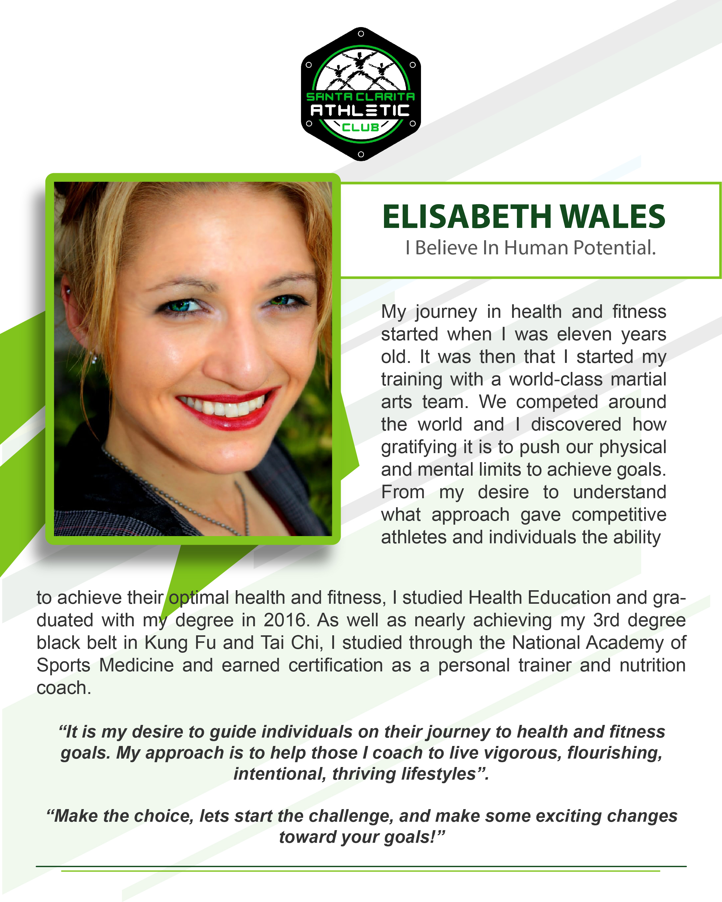 Elisabeth Wales - Certified Personal Trainer