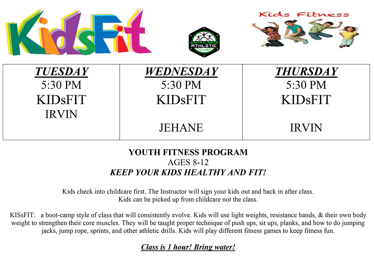 Kids Fit Class Schedule 2019
