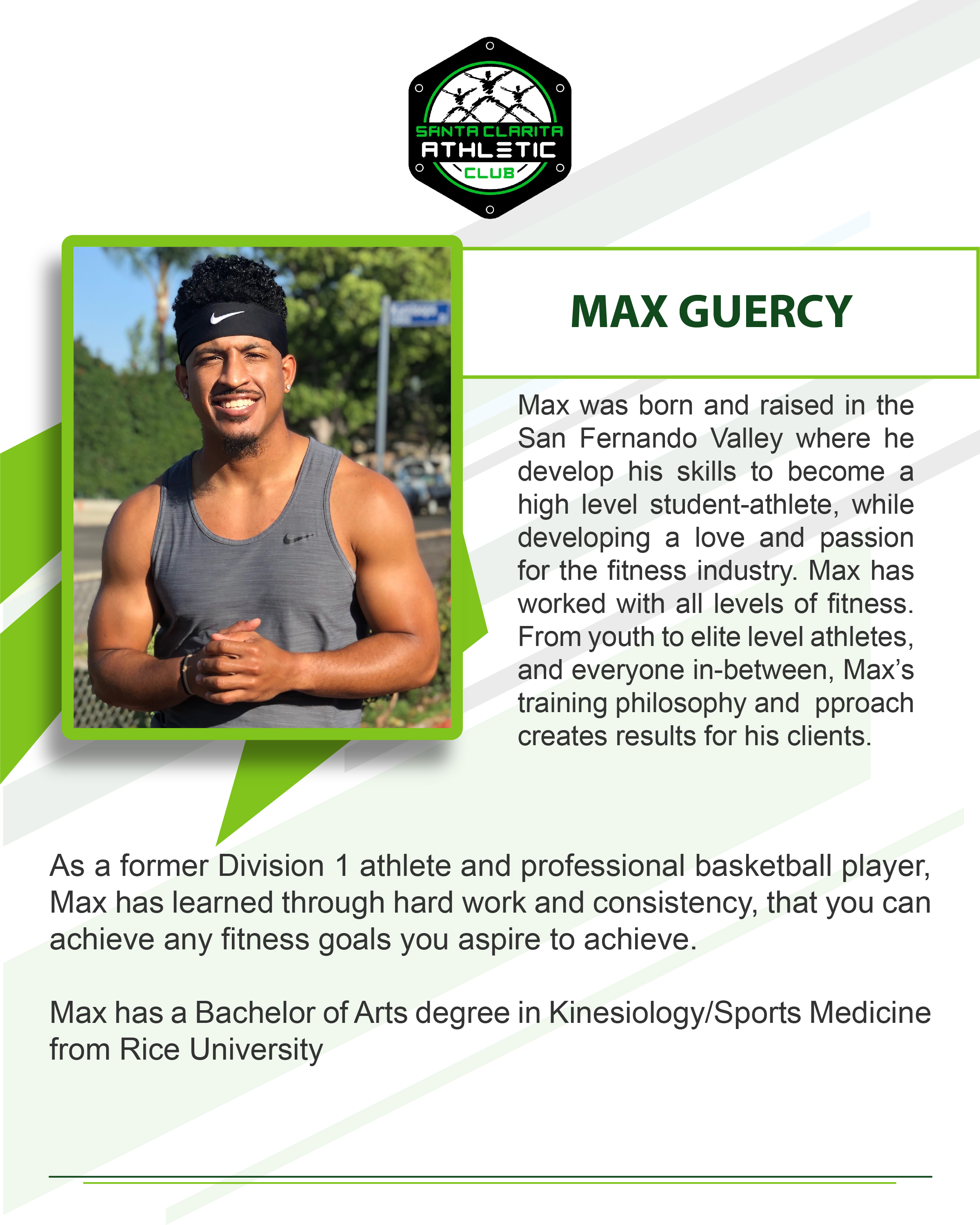 Max Guercy - Certified Personal Trainer