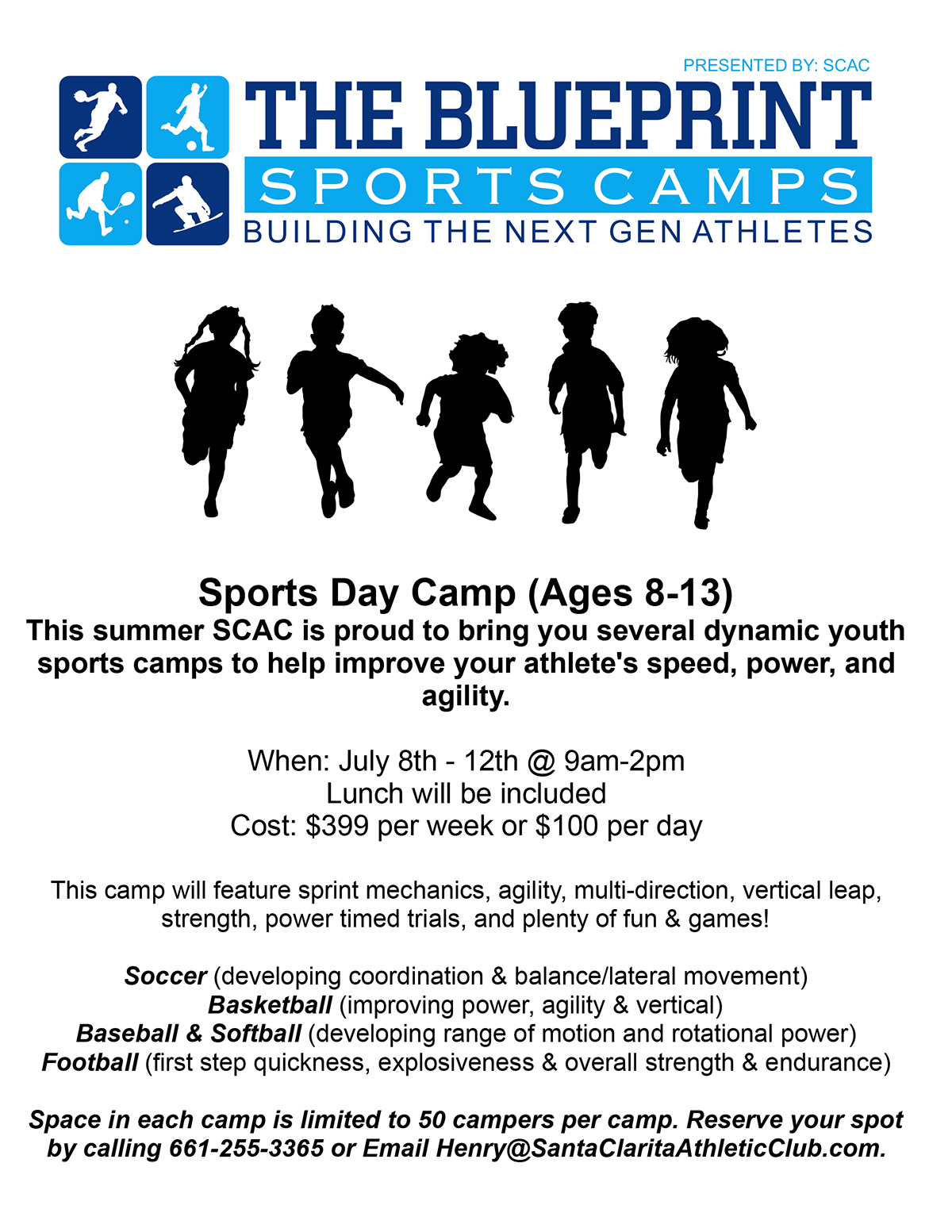 Blueprint Sports Day Camp Ages 8-13