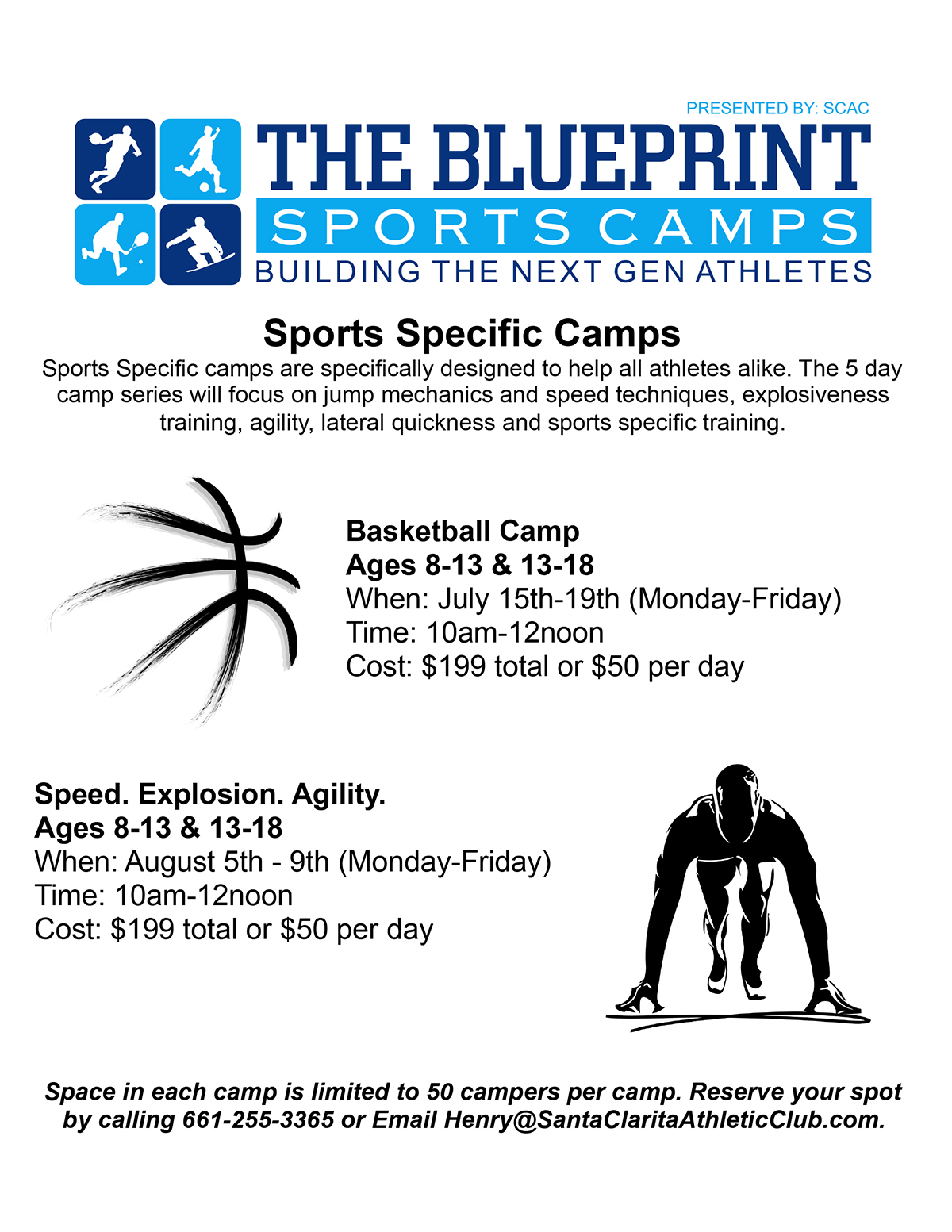 Blueprint Sports Day Camp Ages 8-13 & 13-18